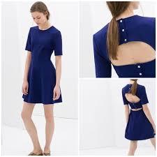 83 off zara dresses u0026 skirts zara open back blue skater dress