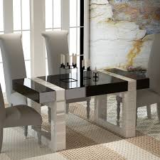 Mirror Dining Table by Rectangular Mirrored Dining Table Radiant 60