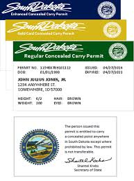 How To Carry Business Cards Concealed Pistol Permits South Dakota Secretary Of State Shantel