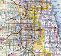 Chicago Loop Map by Interstate Guide Interstate 290 Illinois