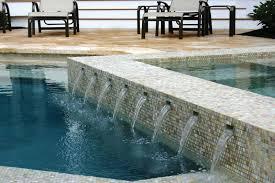 Waterfall Glass Tile Glass Tile Swimming Pool Designs Luxury Pools
