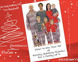 family matching holiday pajamas giveaway enter to win christmas