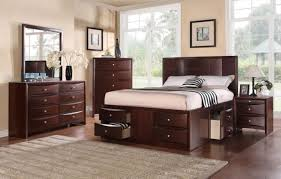 espresso queen bedroom set poundex f9233q 4 pieces espresso queen bed with storage drawers set