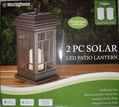 westinghouse 2pc solar led patio lanterns amazon ca home u0026 kitchen
