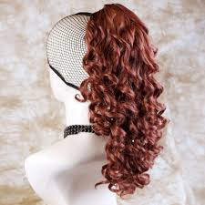 Fox Hair Extensions by Amazon Com Fox Red Ponytail Irish Dance Hair Extension Spiral