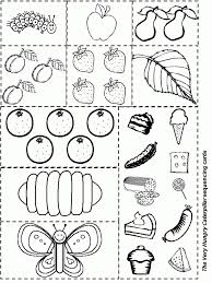 hungry caterpillar coloring pages intended for household cool