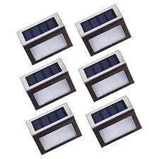 lightess solar stair lights outdoor led step lighting 2 leds