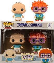 rugrats rugrats tommy pickles u0026 chuckie finster pop vinyl figure 2 pack