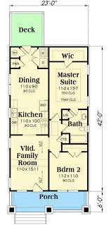 Family Room Floor Plans 2 Bed Bungalow House Plan With Vaulted Family Room 75565gb