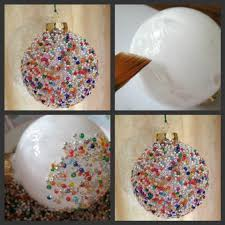seed bead ornament what you u0027ll need glass ball ornament white