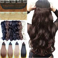 hair clip extensions remy clip in hair extensions curly ebay