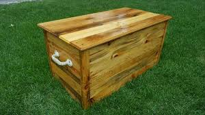Wood Toy Chest Plans by Diy Pallet Wood Chest U2013 Toy Box Pallet Furniture Diy