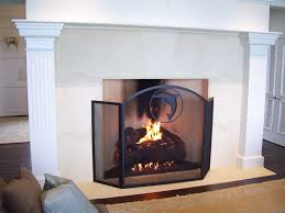 decorative fireplace screens for gas fireplaces