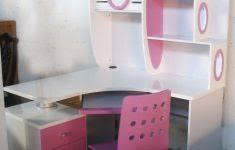 Pink Computer Desk 3 Person Computer Desk