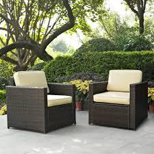 attractive plastic wicker patio furniture outdoor decorating concept
