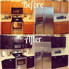 gel stain your kitchen cabinets kitchen makeover for about 100 give your orange oak
