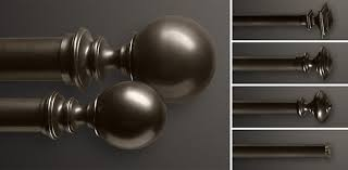 Rubbed Bronze Curtain Rod Custom Hardware Collections Rh