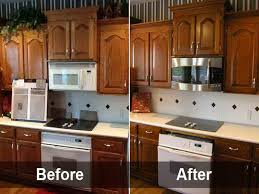 Painted Kitchen Cabinets Before And After Pictures How To Paint Oak Kitchen Cabinets Painting Oak Kitchen Cabinets