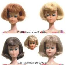 bubble cut hairstyle barbie vintage dolls identified 1963 1967