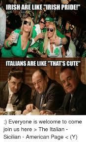 Irish Meme - irishare like irish pride italians are like thats cute everyone