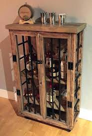 Reclaimed Wood Bar Cabinet Wooden Bar Cabinet Bar Cabinet Wood Wine Rack Storage Shelves