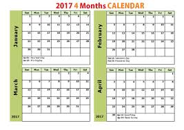 printable 2017 calendar two months per page printable calendar 4 months per page onlyagame