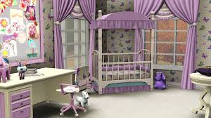 beautiful design ideas of purple baby nursery attractive