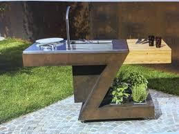 meuble cuisine exterieur cuisine extérieure z avec sa plancha inox planet cook and lounge