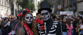 halloween city masks day of the dead parade in mexico city shows how james bond and