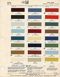 1969 ford mustang color chart with paint mixing codes maine mustang