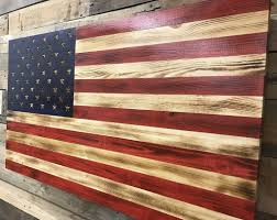 Pallet American Flag Glossy Burnt American Flag With Etched Stars Protectyourshelves