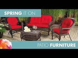 Wicker Patio Table And Chairs Big Lots Patio Furniture Big Lots Patio Table And Chairs Youtube