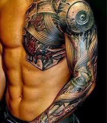 mechanical full arm tattoo tattoomagz