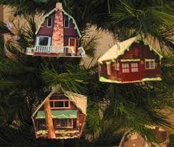 cabins in the woods diy ornament 5