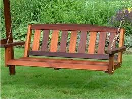 wood bench swing treenovation