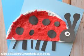 paper plate ladybug kid craft glued to my crafts