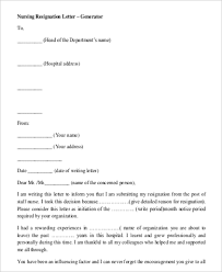 simple resignation letters