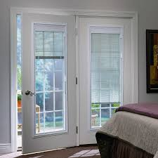 Vinyl Patio Doors With Blinds Between The Glass Odl Enclosed Blinds Built In Door Window Treatments For Entry Doors