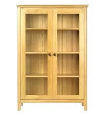 Cherry Wood Bookcase With Doors Wooden Bookcases Processcodi