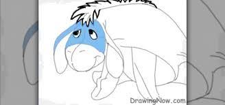 draw eeyore character winnie pooh drawing