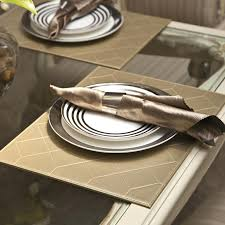 dining room placemats charming dining room placemats lot quilting faux leather gold