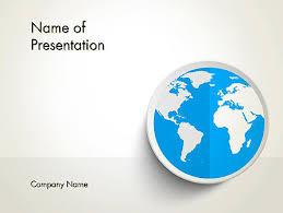 powerpoint vorlagen design globus in flachem design powerpoint vorlage hintergründe 12862