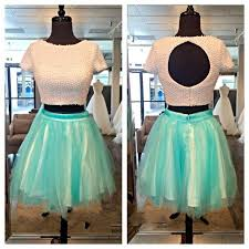 two piece colorful white prom dresses for summer homecoming teens