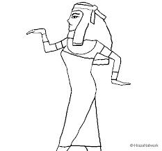 imagenes egipcias para imprimir dibujo de bailarina egipcia 1 para colorear dibujos net