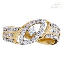 diamond studded diamond studded ring with choki in 18kt gold