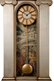 Pewter Mantle Clock Palladian Case Pendulum Wall Clock Palladian Case Decorative