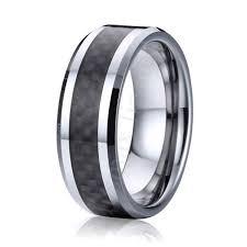 comfort fit titanium mens wedding bands high polishing comfort fit 8mm black carbon fiber titanium