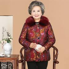 elderly woman clothes qoo10 coat of the elderly woman in 60 70 80 year
