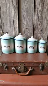 french kitchen canisters set of four french vintage graduated blue by vintagevinniefrance