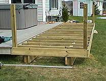 How To Build A Awning Over A Deck How To Extend An Existing Deck Expand An Old Deck Make A Deck